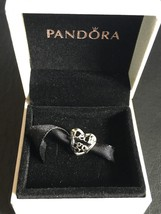 Pandora Disney Frozen .925 Silver Let It Go Open Heart Works Charm Bead #791596 - $33.81