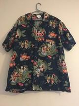 Vintage Gordon Biersch Hawaiian Native Hula Girls Blue Floral Shirt Men'... - $54.95