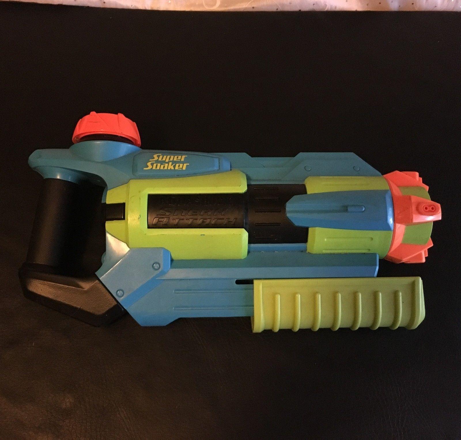 SUPER SOAKER AQUA SHOCK AQUASHOCK WATER BLASTER GUN SNEAK ATTACK 4 WAY SPRAY - $33.81