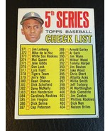 1967 TOPPS BASEBALL 5TH SERIES CHECKLIST ROBERTO CLEMENTE #361 - $14.46