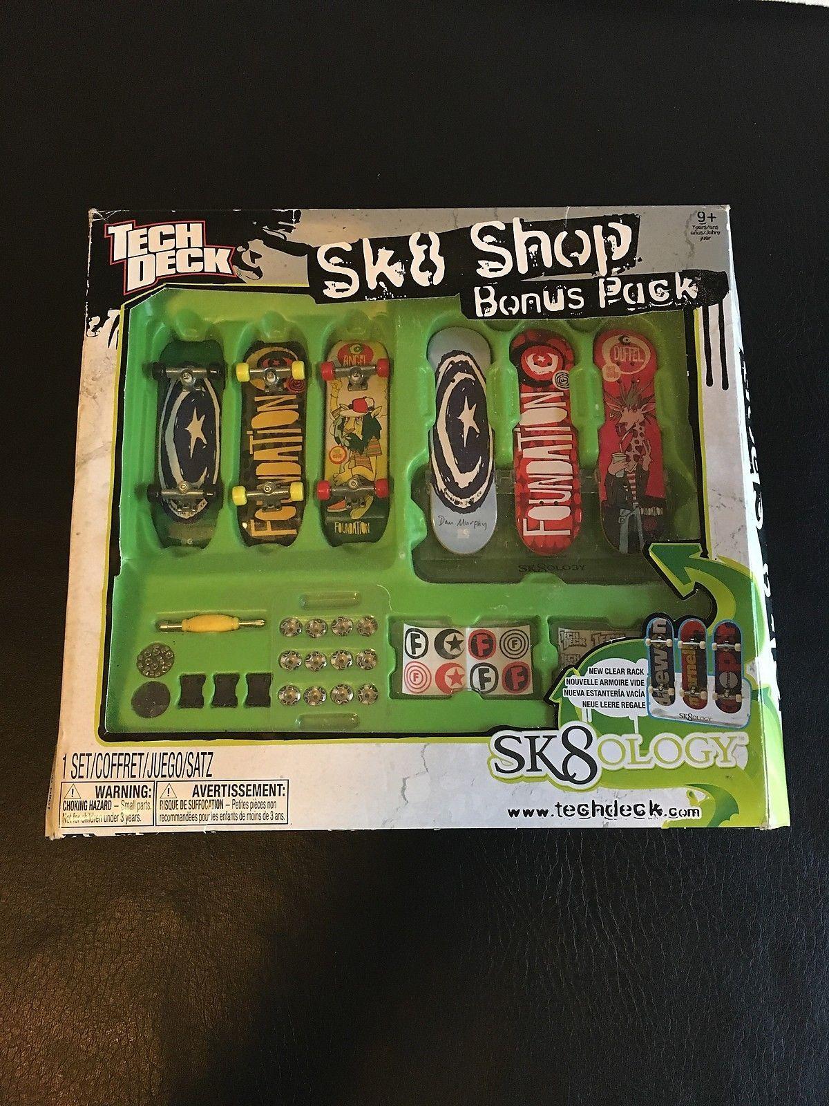 TECH DECK SK8 SHOP BONUS PACK! SK8OLOGY FINGERBOARDS! SKATEBOARD NEW BOXED  RARE -  28.98 e3875ab805a
