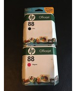 Lot of (2) HP 88 Ink Black C9385AN Magenta C9387AN  - $13.50