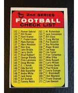 1968 TOPPS FOOTBALL 2ND SERIES CHECKLIST #219 - $12.55