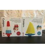 SET OF 2 CUISIPRO SNAP-FIT POP MOlLDS ROCKET & SAILBOAT NEW IN BOX 12 MOLDS - $23.17