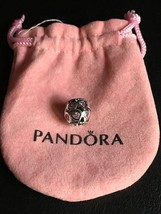 PANDORA SILVER LOVE ALL AROUND FANCY PINK CZ HEARTS CHARM BEAD *NEW* 791... - $46.39