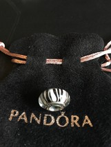 GENUINE PANDORA SILVER ZEBRA MURANO GLASS CHARM BEAD *NEW* 790938 RETIRED - $33.81
