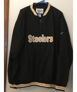 BRAND NEW REEBOK PITTSBURGH STEELERS 1/4 ZIP PULLOVER WINDBREAKER MEN'S ... - $43.33
