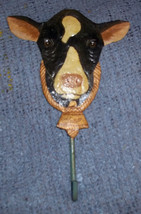 Vintage Metal Cow Hanger with Hook - Great for Hats, etc.  GENTLY USED - $3.99