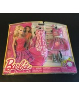 BARBIE DOLL NIGHT FASHION 2 OUTFIT CLOTHING SET PINK  FABULOUS FASHIONIS... - $24.14