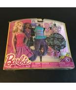 BARBIE DOLL NIGHT FASHION 2 OUTFIT CLOTHING SET PURPLE BLUE FABULOUS SHO... - $24.14