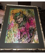 VINTAGE 1980'S ORIGINAL WATERCOLOR PAINTING OF THE DEVIL BY MOLLY ADAMS - $382.17