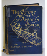 1888 Antique Book The Story of the American Sailor Brooks Mariners Pirates - $123.49
