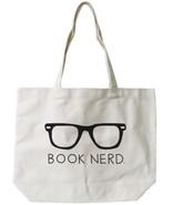 Book Nerd Canvas Tote Bag - 100% Cotton Eco Bag, Shopping Bag, Book Bag - $15.99