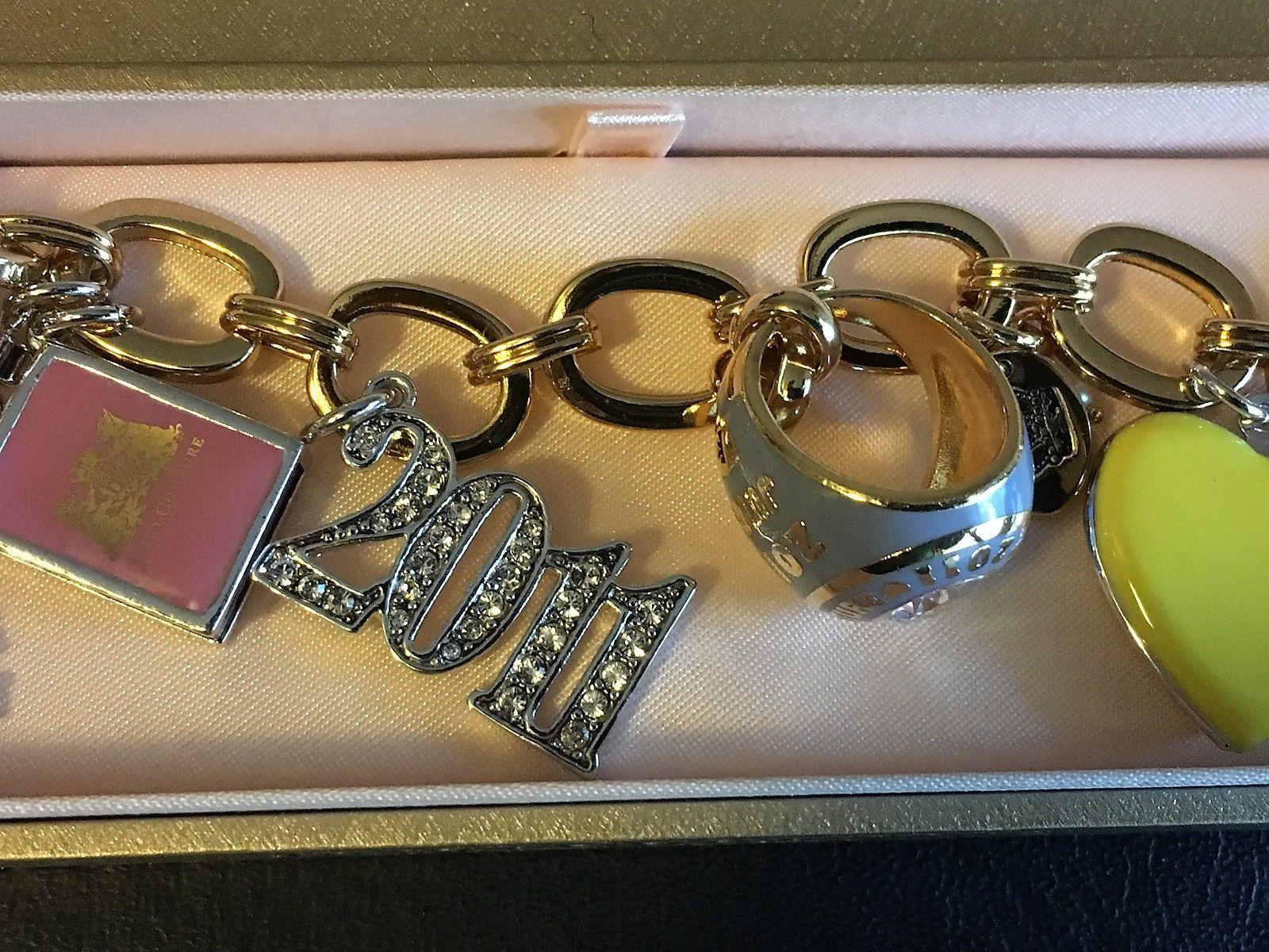 Juicy Couture Limited Edition Goldtone Enamel 2011 Graduation Charm Bracelet