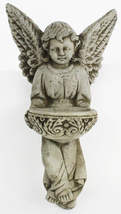 Holy Angel with Bowl Concrete Wall Plaque   - $49.00