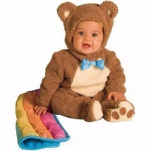 Teddy Bear Infant Toddler Halloween Costume 0-6 6-12 12-18 months sizes - $31.79