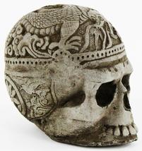 Skull with Dragon Concrete Statue  - $44.00