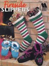 Fireside Slippers, Annie's Crochet Patterns 878902 Slippers Stockings So... - $8.95