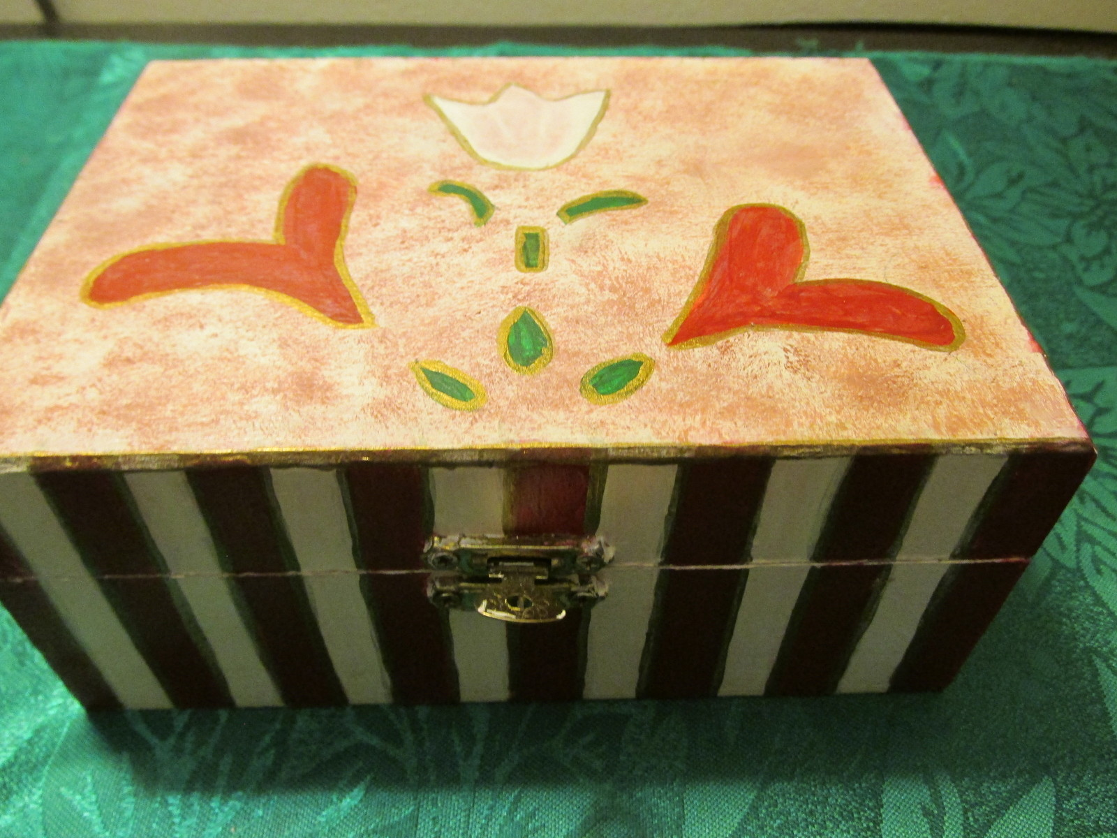 Handpainted Tulip Jewelry Box With Tulips