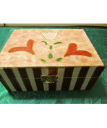Handpainted Tulip Jewelry Box With Tulips - $12.99