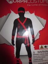 Boys Ninja Morphsuit Child Halloween Costume Skinsuit XL 14-16 - $26.94