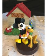 1998 Disneyana Convention Love & Laughter LE Mickey And Pluto Figurine &... - $138.95
