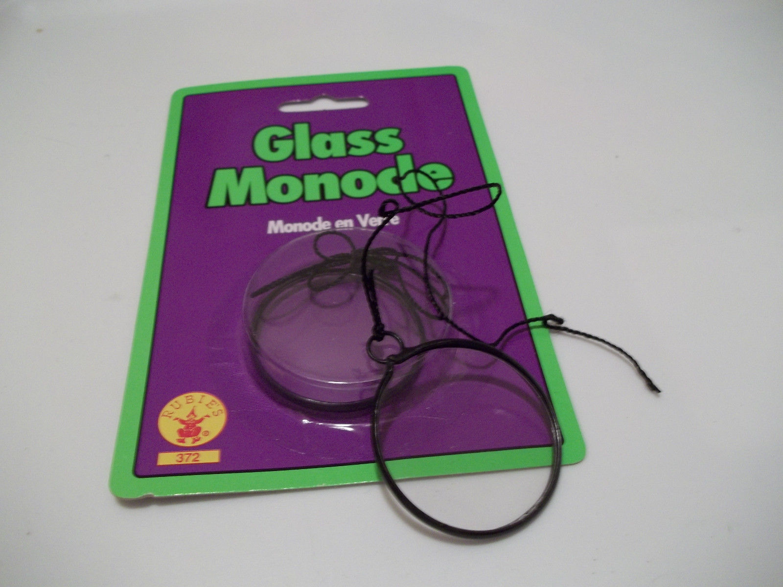 Black Rimmed Glass Monocle Great Costume Addition