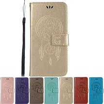XYX Wallet Phone Case for LG V40,Campanula Owl Embossed PU Leather Case ... - $8.89