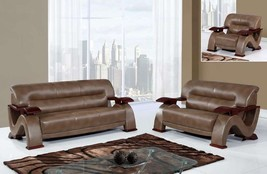 Global Furniture U2033 Pluto Bonded Leather 3 Piece Sofa Set Contemporary Design