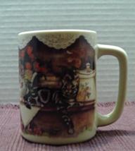 Vintage FRASER COLLECTION OTAGIRI JAPAN Black & White Tabby Cat On Shelf... - $7.00