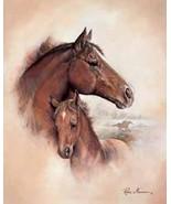 Horse Foal Brown Collectible Vintage 4X6 Foil Fantasy Postcard - $3.00