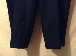 Great Condition Alfred Dunner Woman 20W Navy Blue Pants 100% Polyester Elastic image 4