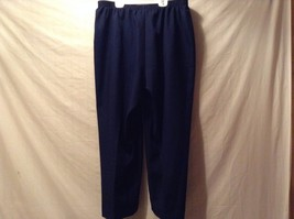 Great Condition Alfred Dunner Woman 20W Navy Blue Pants 100% Polyester Elastic image 3