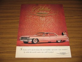 1960 Print Ad The 1961 Cadillac 4-Door Brocade Detroit Institute of Arts - $13.24