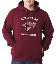 HOUSE STARK WINTER IS COMING Unisex Hoodie S-3XL MAROON - $31.00+