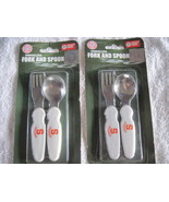 2 Sets Syracuse University Stainless Steel Baby Toddler Fork & Spoon New York - $10.00