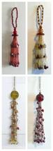 "ornaments Christmas Bead Globe 8"" long Treasure Tassel 6"" long Red or Amber - $3.99"