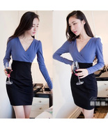 pf123 Cutie long sleeve & deep v blouse, size s,m,l - $28.80