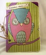 Owl Remember When Blank Book New Journal, Diary - $19.99