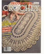Decorative Crochet Magazine 7 Doilies Thread Pa... - $4.99
