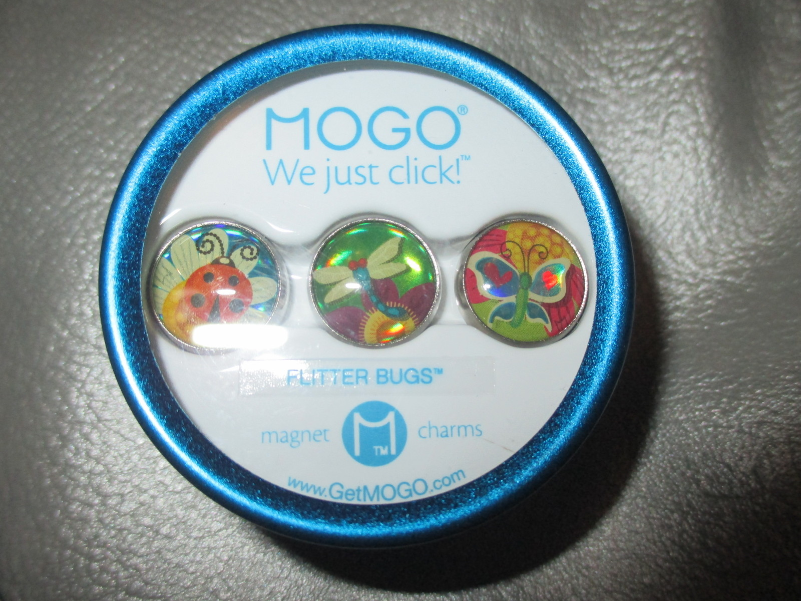 MOGO Charm Collections Flitter Bugs Set of 3 Charms within 1 Tin