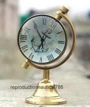 Nautical Brass Clock Modern Design Table Top Working Clock Decorative  - £22.37 GBP