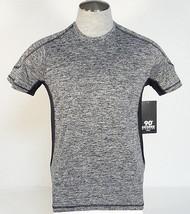 90 Degree By Reflex Charcoal Short Sleeve Athletic Shirt Mens NWT - $37.49