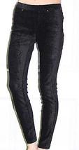 NEW HUE Floral Pincord Animal Dot Black Leggings U14633 XS XSmall - $22.27