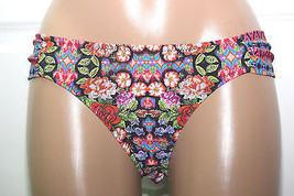 NWT Jessica Simpson Mixed Funky Floral Tub Sides Bikini Hipster Bottom ... - $4.99