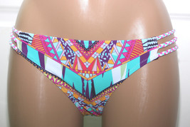 NWT Jessica Simpson Side Braid Starburst Bikini Hipster Bottom S M L Coo... - $10.99