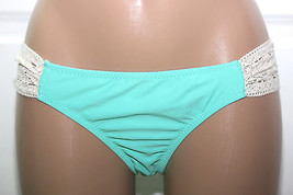 NWT Jessica Simpson Boho Solid Crochet Side Shirred Hipster Bottom Mint S M L - $6.29
