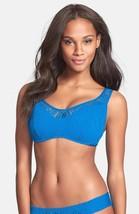 NEW Becca Rebecca Virtue  DD cup Underwire Crochet Bikini Swim Top Blue - $19.78