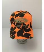Vintage Lasco Ford Blaze Orange Camo Hat Cap Snapback USA Made Michigan - $22.23
