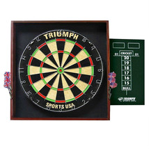"Deluxe Backboard Framed 18"" Dartboard and Steel Tip Darts Set  - $45.19"